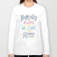hogwarts Long Sleeve T-shirts featuring Hogwarts by IndigoEleven