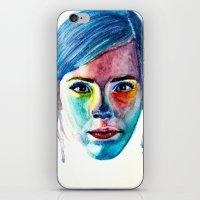 emma watson iPhone & iPod Skins featuring Emma Watson by Stella Joy