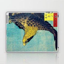 Hiroshige, Hawk Flight Over Field Laptop & iPad Skin