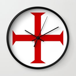templar knights cross Wall Clock