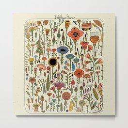 Wildflower Chart Metal Print