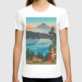 Tsuchiya Koitsu Vintage Japanese Woodblock Print Fall Autumn Mount Fuji T-shirt