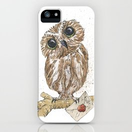 Owl Letter For You iPhone Case
