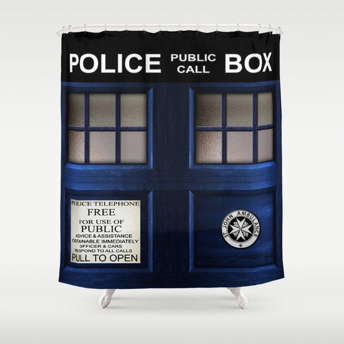 Tardis Doctor Who Shower Curtain