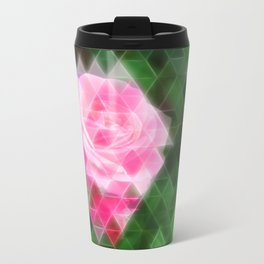 Pink Roses in Anzures 1 Art Triangles 2 Travel Mug