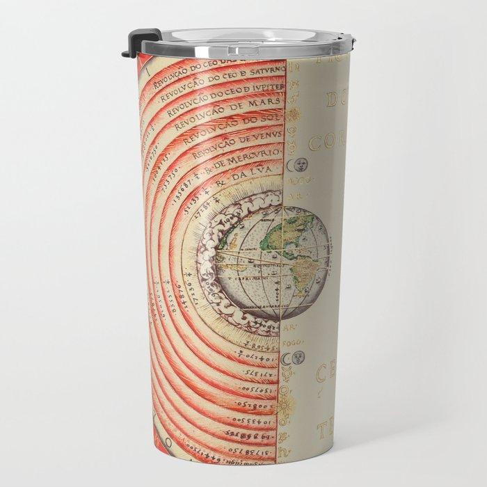 Model of the Universe by Bartolomeu Velho, 1568 Travel Mug