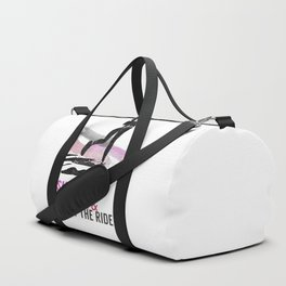 Woman running with a smile Duffle Bag