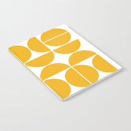 Mid Century Modern Geometric 04 Yellow Notebook