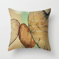 The Voice Of Your Heart Whispers To My Soul - Wind Chimes - Rustic - Wedding - Valentine's Day Throw Pillow