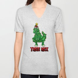 Tree Rex - T-Rex As Christmas Dinosaur Decoration Unisex V-Neck