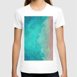 Sunset Over Lagoon Abstract Painting T-shirt