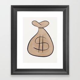 Money Bag Framed Art Print