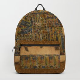 Ancient Egyptian Funerary Scroll pre 944 BC Backpack