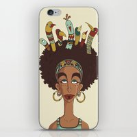 afro iPhone & iPod Skins featuring Afro Birds by Beatrice Roberti