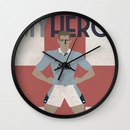 MY HERO - 10 GASCOIGNE - ZEROSTILE FACTORY Wall Clock