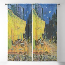 Cafe Terrace at Night,  Vincent van Gogh Blackout Curtain