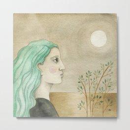 Moon Gazing Metal Print