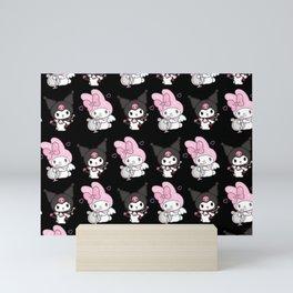 Kuromi and My Melody Mini Art Print
