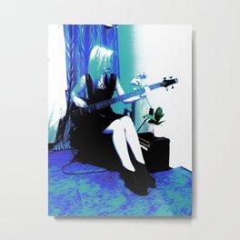 Rock Cameo Bass Blues, Guitar Metal Print