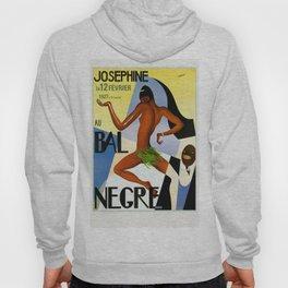 1920's Paris France Josephine Baker Jazz Revue Bal Negre Poster Hoody