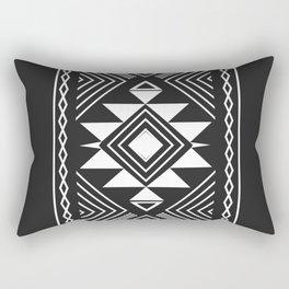 Aztec boho ethnic black and white Rectangular Pillow