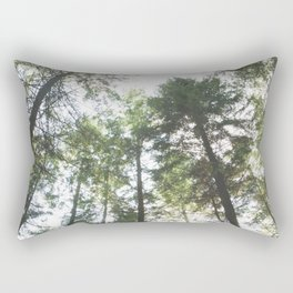 Looking up at the Pine Trees Rectangular Pillow
