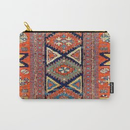 Southwestern Farmhouse II // 19th Century Colorful Red Yellow Blue Green Aztec Farm Stars Pattern Carry-All Pouch