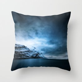 The Arctic - Storm Over Still Water Throw Pillow
