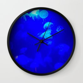 Electric Blue Squishes Wall Clock