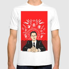 Twin Peaks: Dale Cooper's Thoughts MEDIUM White Mens Fitted Tee