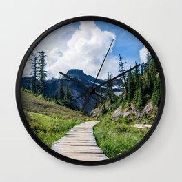 towards the mountains Wall Clock
