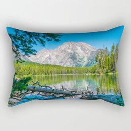 Grand Teton Lake Hike Wyoming Print Rectangular Pillow