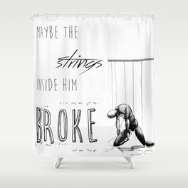 Paper Towns - strings Shower Curtain