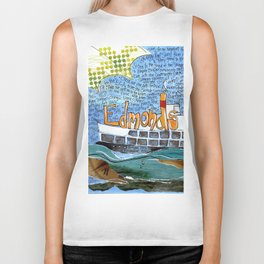 EDMONDS, WASHINGTON the town and the adventures by Seattle Artist Mary Klump Biker Tank