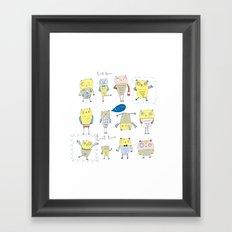 Whimsical Owls Framed Art Print