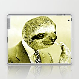 Gentleman Sloth lighting a cigarette Laptop & iPad Skin