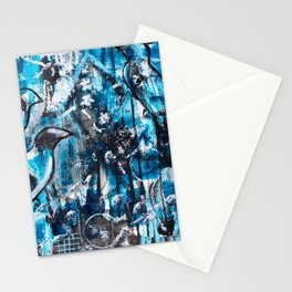 """One For Sorrow, Two For Joy"" Original Painting by Julia Barnickle Stationery Cards"