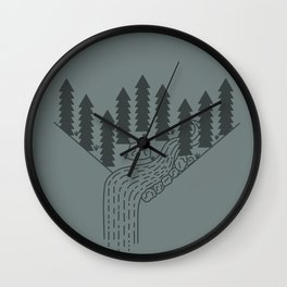 River Flowing Wall Clock