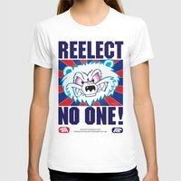 politics T-shirts featuring Polar Bear Politics by Clore Concepts Chucks Stuff
