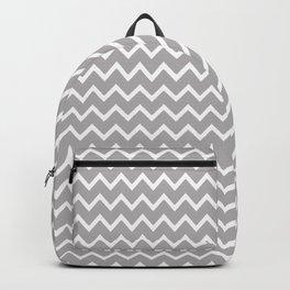Gray Chevron Backpack