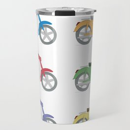Set of colorful bikes Travel Mug