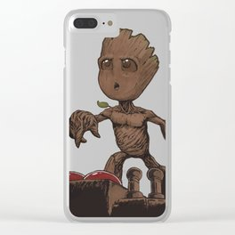 Is This The Death Button? Clear iPhone Case