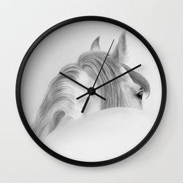 Andalusian Stallion - Digital Painting Wall Clock