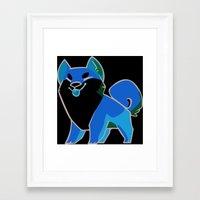 shiba inu Framed Art Prints featuring Shiba Inu by ParaPara