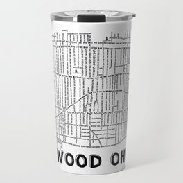 Lakewood Ohio Map Travel Mug