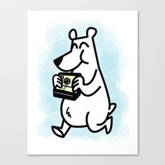 Polaroid Bear Canvas Print