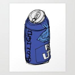 Bud Light Can Art Print