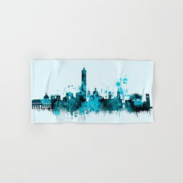 Bologna Italy Monochrome Blue Skyline Hand & Bath Towel