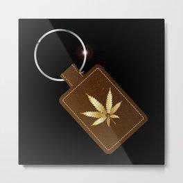 Marijuana Key Fob Metal Print