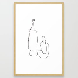 Bottles Framed Art Print